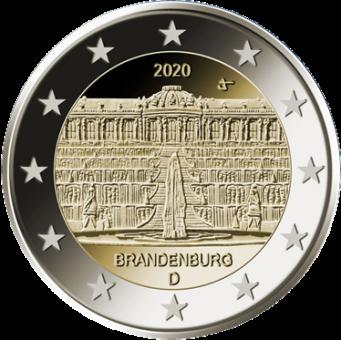 """Bonus: 2-Euro-Münze 2020 Brandenburg """"Schloss Sanssouci"""" kostenlos"""