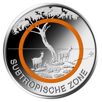 5-Euro-Münze 2018 Subtropische Zone Stempelglanz