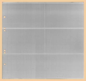 Ersatzblätter Liebigbilder-Album 6 Taschen (Querformat)