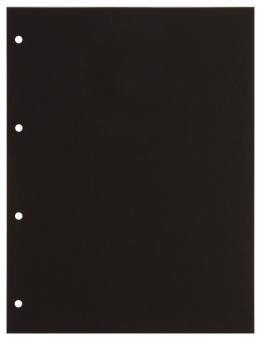 Zwischenblätter für Einsteckblätter Combi aus schwarzem Karton