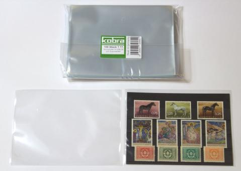 Schutzhüllen für Versand-Einsteckkarten VK zum Zuschweißen (100 Stück)