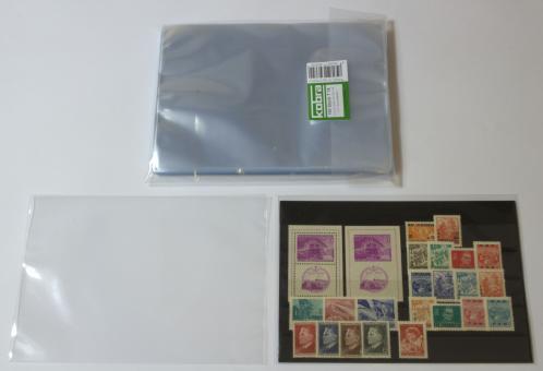 Schutzhüllen für Einsteckkarten DIN A5 zum Zuschweißen (100 Stück)