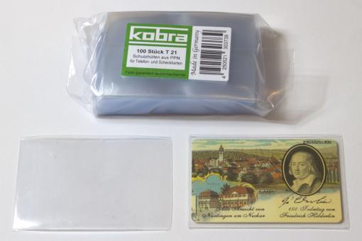 Schutzhüllen für Coincards, Münz-, Telefon- und Scheckkarten (100 Stück)
