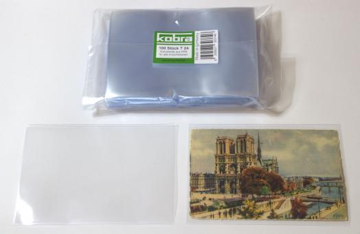 Schutzhüllen für alte Ansichtskarten (100 Stück)