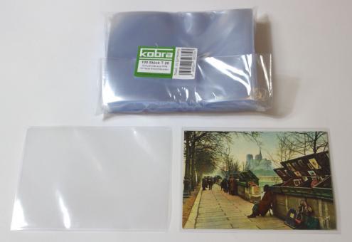 Schutzhüllen für neue Ansichtskarten und DIN A6 (100 Stück)