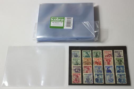 Schutzhüllen für Versand-Einsteckkarten (100 Stück)