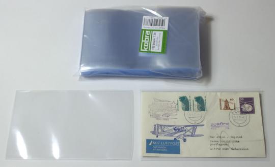 Schutzhüllen für FDC-Briefe intern. Format (100 Stück)