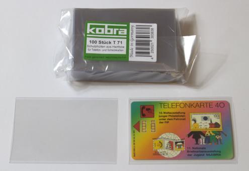 Schutzhüllen für Coincards, Münz-, Telefon- und Scheckkarten aus Hartfolie (100 Stück)