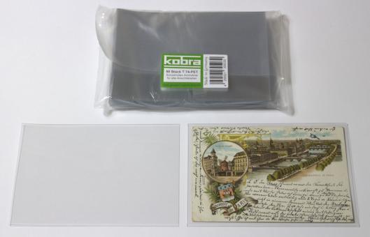 Schutzhüllen für alte Ansichtskarten aus Archivfolie (50 Stück)