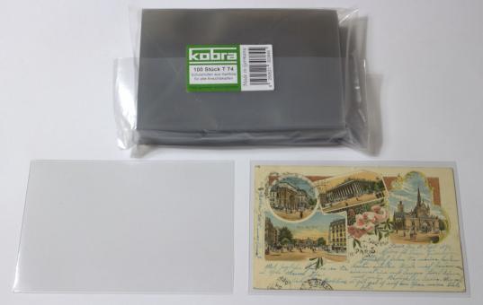 Schutzhüllen für alte Ansichtskarten aus Hartfolie (100 Stück)