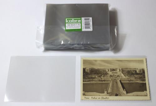 Schutzhüllen für neue Ansichtskarten DIN A6 aus Hartfolie (100 Stück)