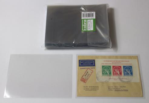 Schutzhüllen für normale Briefe DIN C6 aus Hartfolie (100 Stück)