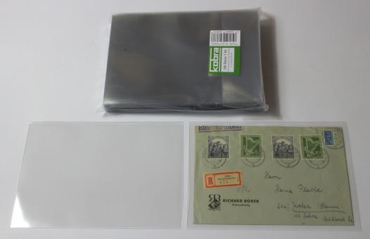 Schutzhüllen für größere Briefe aus Hartfolie (100 Stück)