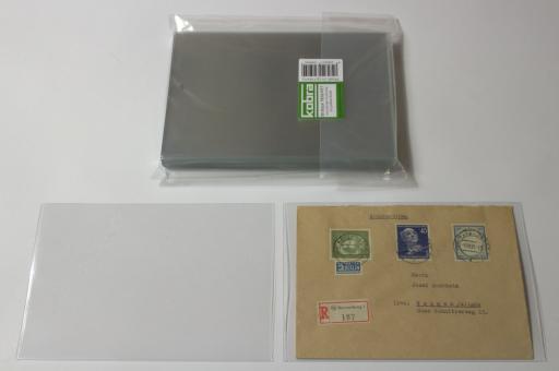 Schutzhüllen für grölßere Briefe aus Archivfolie (50 Stück)