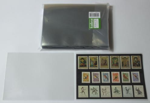 Schutzhüllen für Einsteckkarten und ETBs DIN A5 aus Hartfolie  (100 Stück)