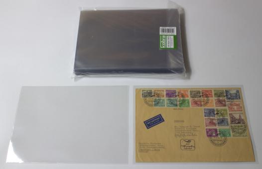 Schutzhüllen für Briefe DIN C5 aus Hartfolie, lange Seite offen (100 Stück)