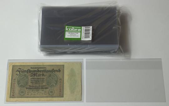 Klapphüllen für kleinere Banknoten (50 Stück)